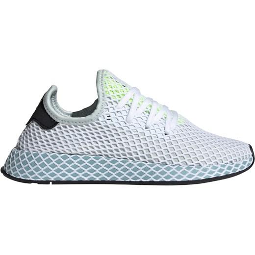 Buty sportowe damskie Adidas płaskie bez wzorów wiązane