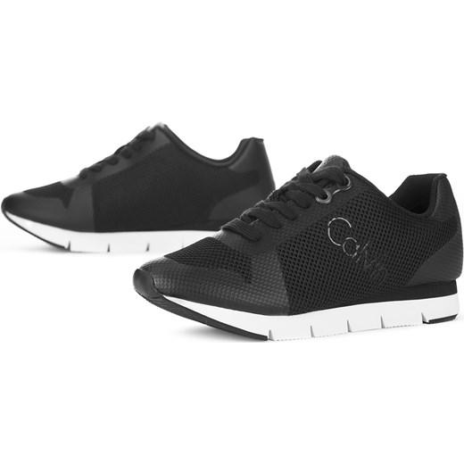 Buty sportowe damskie Calvin Klein bez wzorów czarne z