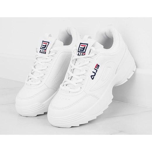 najlepszy Białe buty sportowe damskie Fila bez wzorów