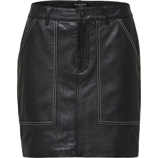 Spódnica Selected Femme mini Odzież Damska FB czarny Spódnice DYXT 80% ZNIŻKI
