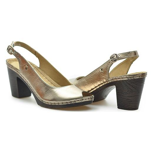 Sandały Karino 1707/074-P Złoty brazowy Arturo-obuwie Buty Damskie AR zielony Sandały damskie GPNA