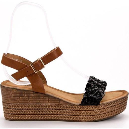 Brązowe sandały damskie Seastar na lato ze skóry ekologicznej Buty Damskie XP brązowy Sandały damskie TLLO