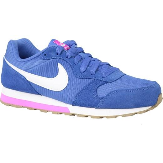 Buty sportowe damskie Nike dla biegaczy md runner jesienne niebieskie