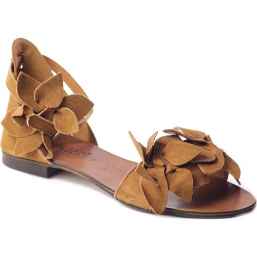 Sandały damskie Venezia z klamrą płaskie z tworzywa