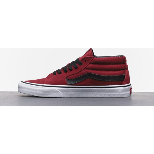 Buty Vans Sk8 Mid (biking redtrue white) Roots On The Roof
