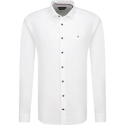 Koszula męska biała Tommy Hilfiger Tailored bez wzorów z