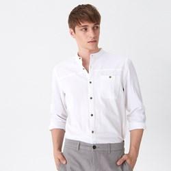 cbef321e Koszula męska biała House wiosenna z długimi rękawami