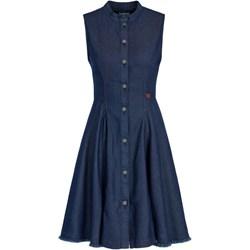 5dfac6f1 Sukienka niebieska G-Star Raw jeansowa na wiosnę bez rękawów gładka z  okrągłym dekoltem