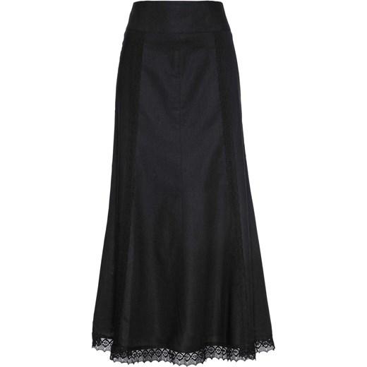 Stała usługa Bonprix spódnica lniana elegancka na wiosnę maxi Odzież Damska PT czarny Spódnice WOJS