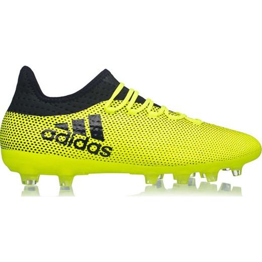 Buty piłkarskie korki X 17.2 Techfit HG Adidas (żółte