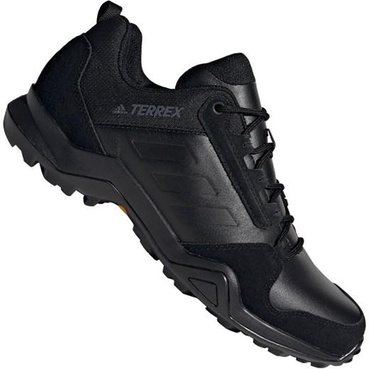 Buty sportowe męskie czarne Adidas terrex wiązane z tkaniny