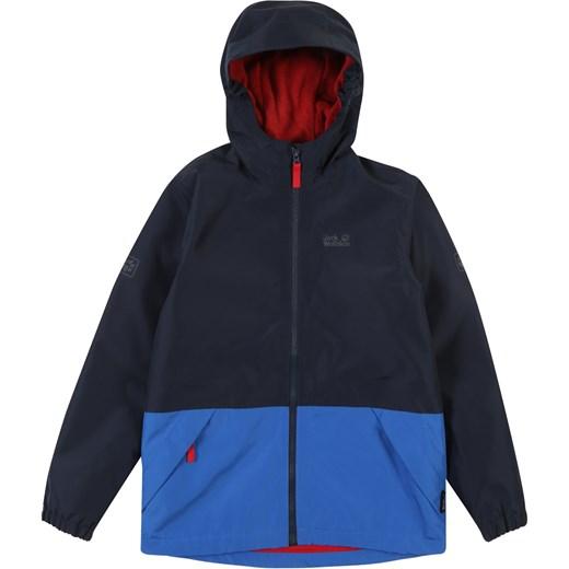 klasyczne style dostać nowe szczegóły Jack Wolfskin kurtka dziewczęca na jesień granatowa bez wzorów