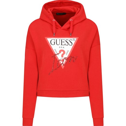 guess bluza czerwona damska