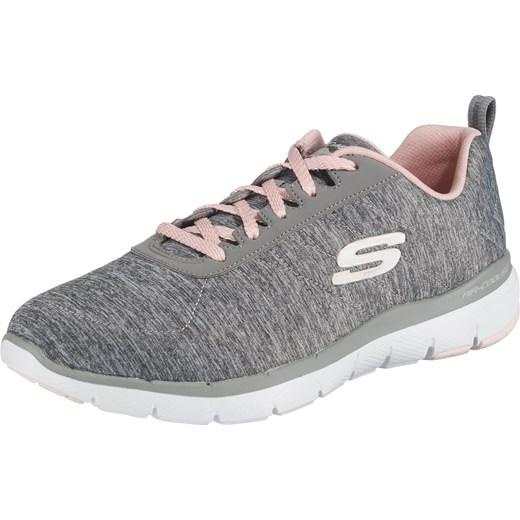 Buty sportowe damskie Skechers sznurowane na płaskiej