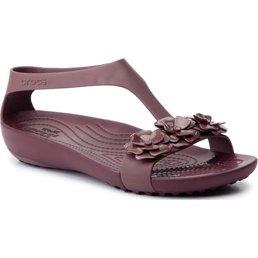 Sandały damskie Crocs na płaskiej podeszwie płaskie bez