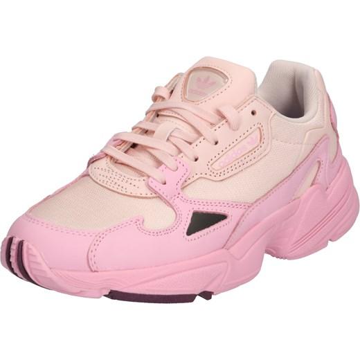 Buty sportowe damskie Adidas Originals sneakersy młodzieżowe wiązane na płaskiej podeszwie bez wzorów