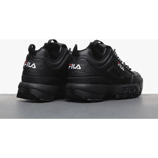 Sneakersy damskie Fila na platformie sznurowane skórzane