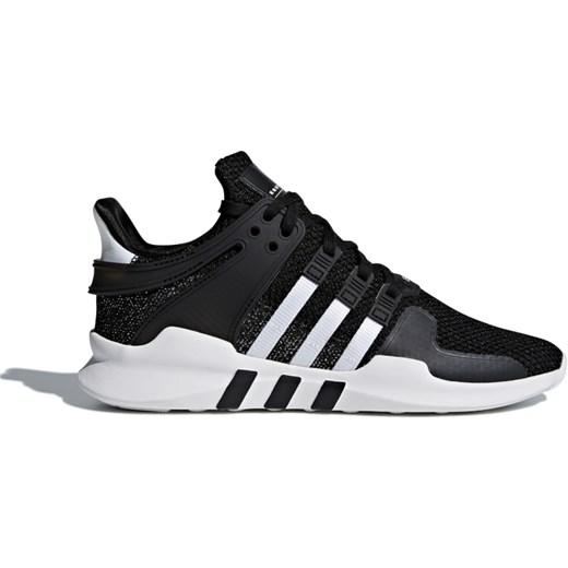 Buty sportowe damskie Adidas eqt support czarne na wiosnę bez wzorów płaskie wiązane