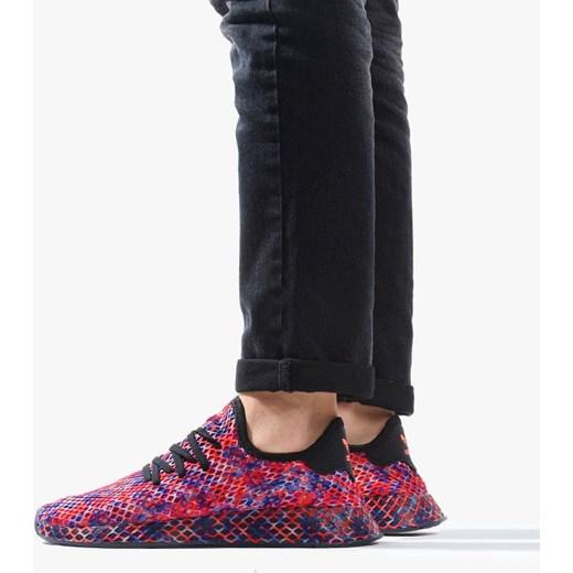 Sneakersy damskie Adidas Originals sportowe na platformie sznurowane w abstrakcyjnym wzorze