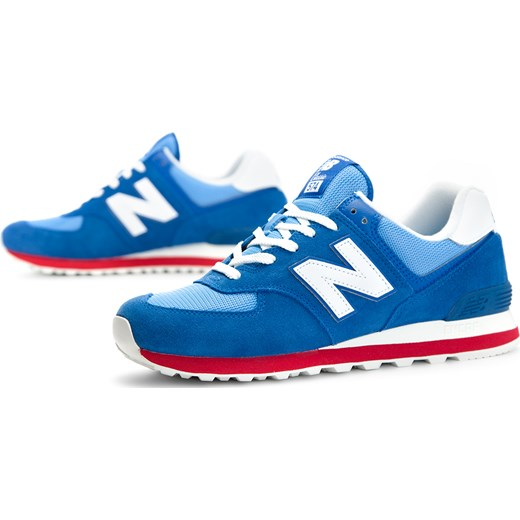 Buty sportowe męskie New Balance new 575 ze skóry sznurowane