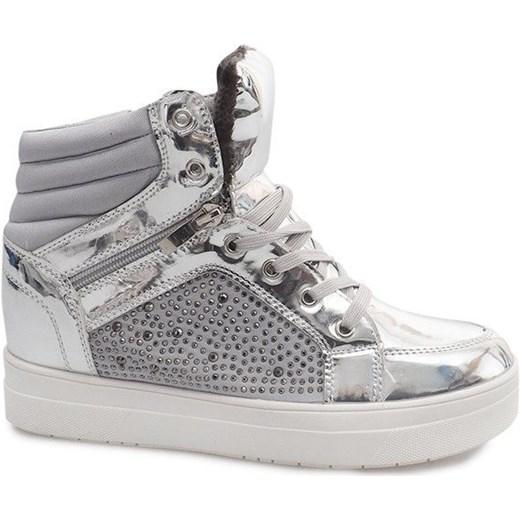 Sneakersy damskie Butymodne młodzieżowe na wiosnę wiązane w