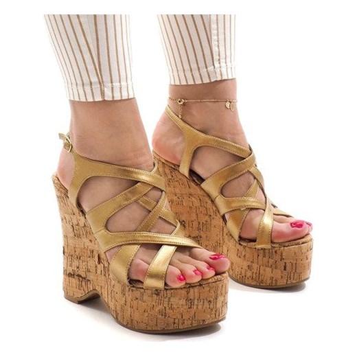 Sandały damskie Butymodne eleganckie bez wzorów