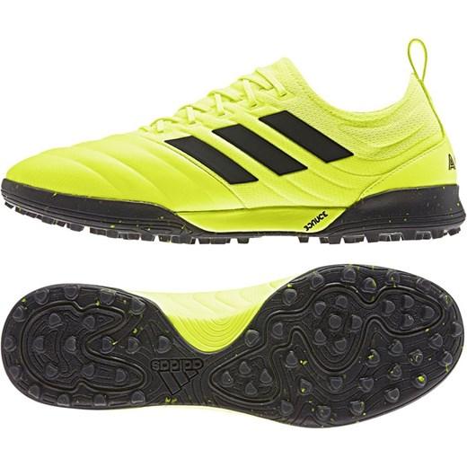 Buty sportowe męskie Adidas performance copa na wiosnę ze skóry sznurowane