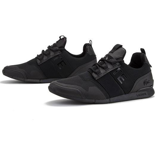 50% ceny szczegóły dla sprzedaż obuwia Buty sportowe męskie Lacoste czarne sznurowane