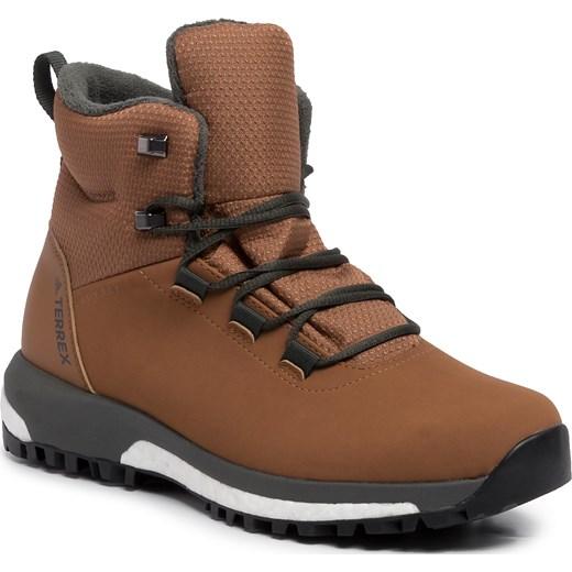 Buty trekkingowe damskie Adidas płaskie sznurowane