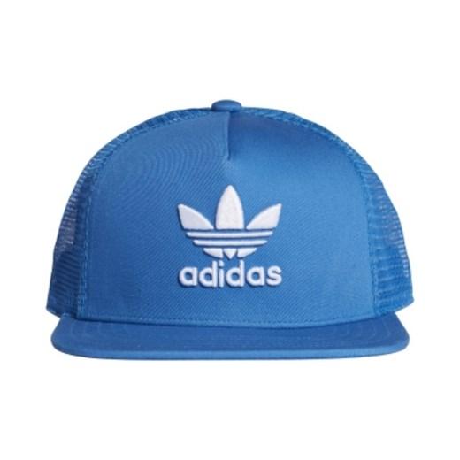 Czapka z daszkiem męska Adidas niebieska z haftem