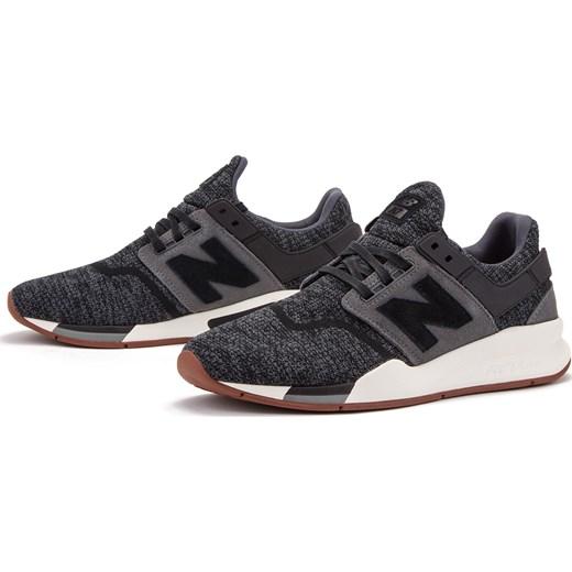 aliexpress najlepsza moda gdzie kupić Buty sportowe męskie New Balance czarne ze skóry