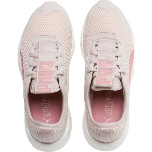 Buty sportowe damskie Puma dla biegaczy beżowe bez wzorów sznurowane płaskie