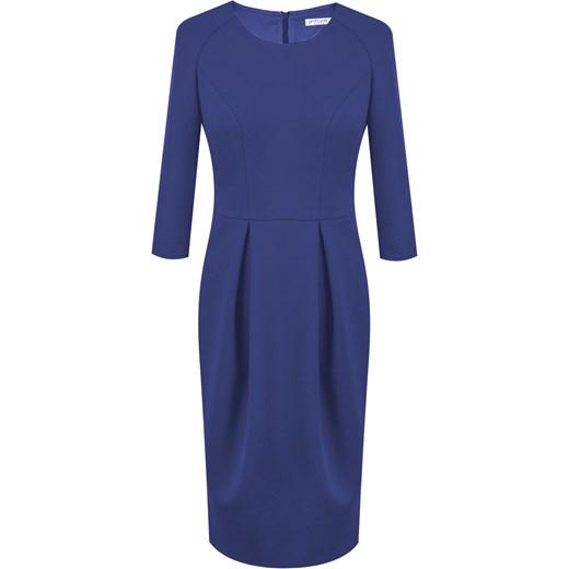 Sukienka niebieska Prettyone biznesowa