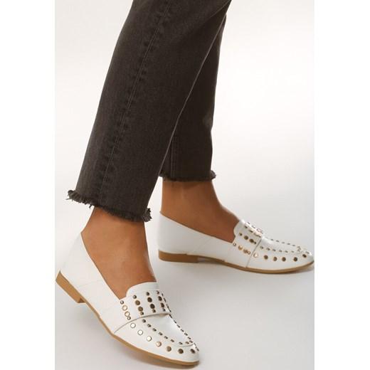 buty damskie letnie białe mokasyny handy hits