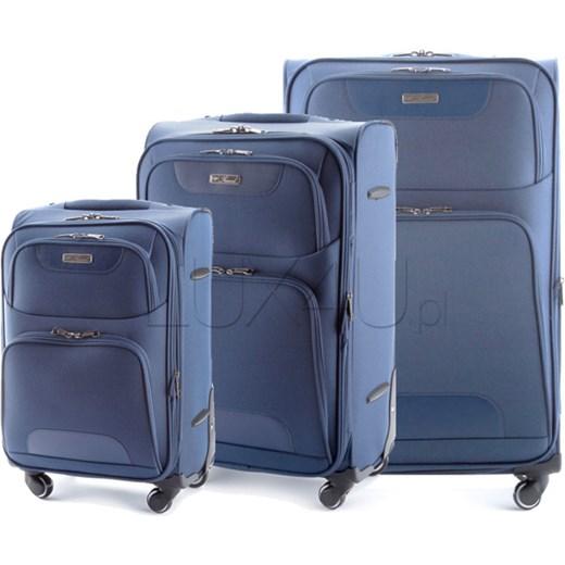 031ee5a9ca80a Komplet walizek Vip Collection Vip Travel Soft - niebieski lux4u-pl  niebieski ciekawe