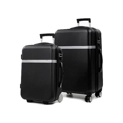 b841cca7bdfab Komplet 2 walizek na kółkach Calvin Klein Libertad lux4u-pl czarny Akcesoria