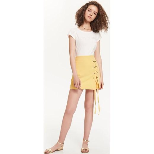 Żółta spódnica Troll bez wzorów