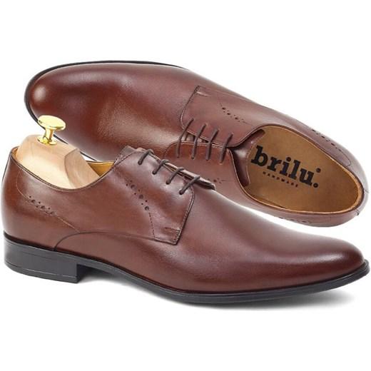 Buty eleganckie męskie Brilu z tworzywa sztucznego