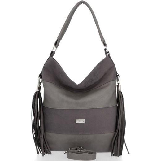 Shopper bag Conci z zamszu duża