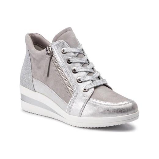 Sneakersy damskie Jenny Fairy sznurowane sportowe gładkie na platformie