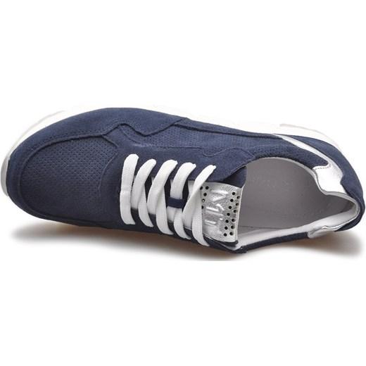 Buty sportowe damskie Marco Tozzi sneakersy młodzieżowe sznurowane zamszowe