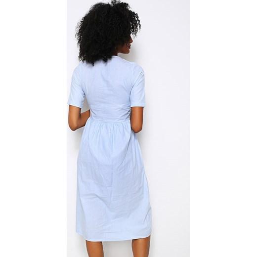 Sukienka Next Trend z krótkim rękawem midi