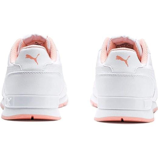 Buty sportowe damskie Puma do biegania sznurowane białe ze skóry ekologicznej
