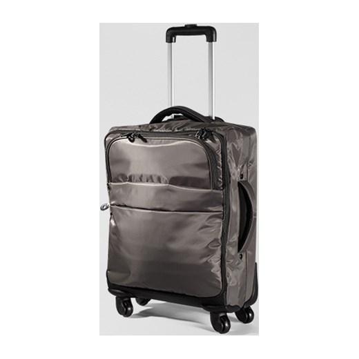 0e324e83704bd ... Miękka walizka na kółkach, mała tchibo szary na kółkach ...