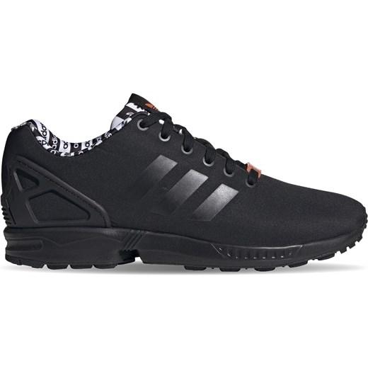 Buty sportowe męskie Adidas zx flux skórzane czarne sznurowane jesienne