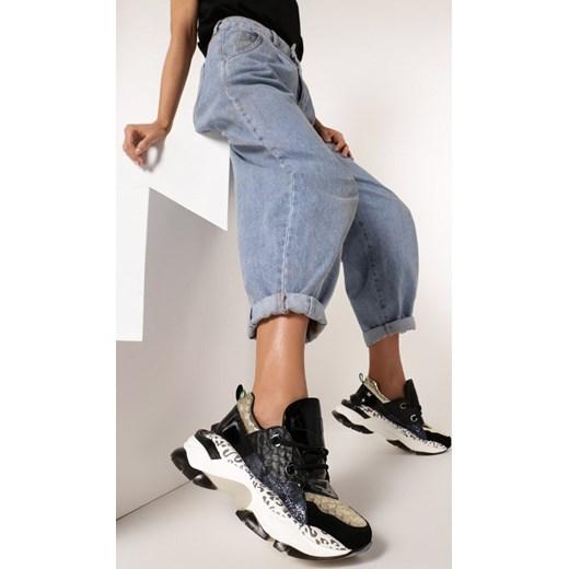 Buty sportowe damskie Born2be młodzieżowe bez wzorów