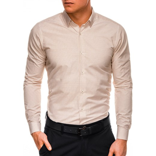 Koszula męska Ombre elegancka z klasycznym kołnierzykiem w  H1KMH