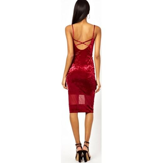 d48bc4072ac2 Asos Midi Olowkowa Sukienka Aleja Mody Czerwony Aksamitne W Domodi