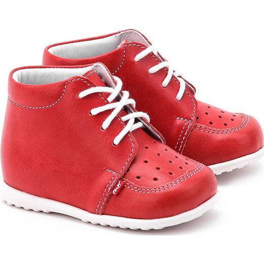 b635b3b5 Roczki - Czerwone Skórzane Trzewiki Dziecięce E 918-7 mivo-kids czerwony  buty na lato w Domodi