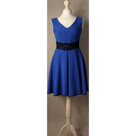 Sukienka Niebieska Vega Paris W Domodi